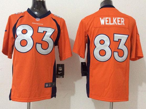 Youth Nfl Denver Broncos #83 Welker Orange (2014 New) Game Jersey