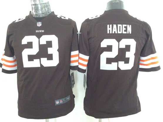 Youth Nfl Cleveland Browns #23 Haden Brown Game Jersey