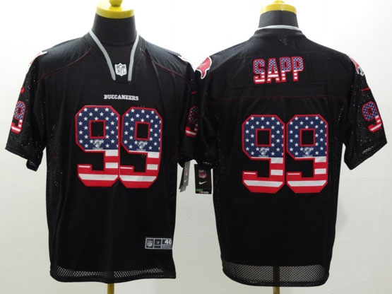 Mens Nfl Tampa Bay Buccaneers #99 Sapp Black (2014 Usa Flag Fashion) Elite Jersey