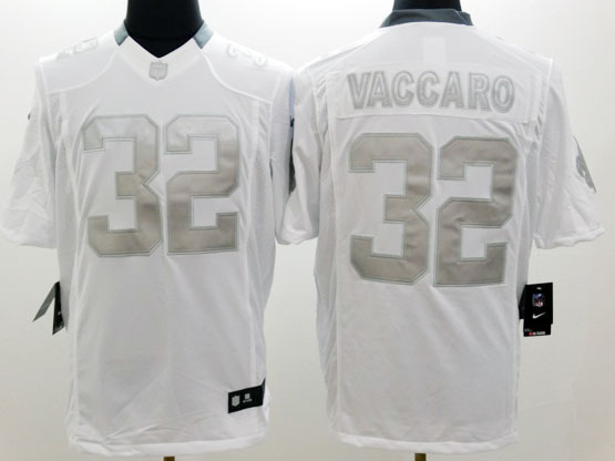 Mens Nfl New Orleans Saints #32 Vaccaro White (silver Number) Platinum Limited Jersey
