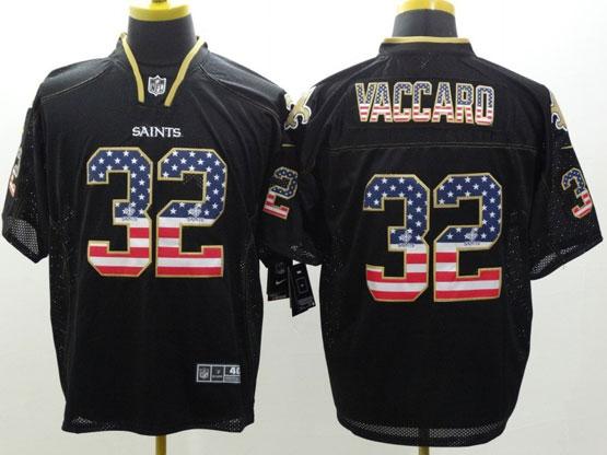 Mens Nfl New Orleans Saints #32 Vaccaro Black (2014 Usa Flag Fashion) Elite Jersey