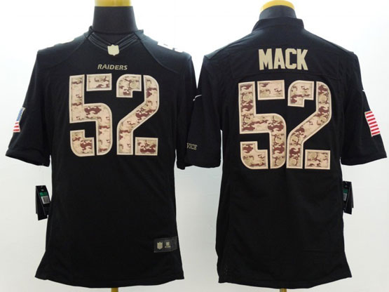 Mens Nfl Oakland Raiders #52 Mack Salute To Service Black Limited Jersey
