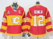 Youth Reebok Nhl Calgary Flames #12 Iginla Red (winter Classic) Jersey