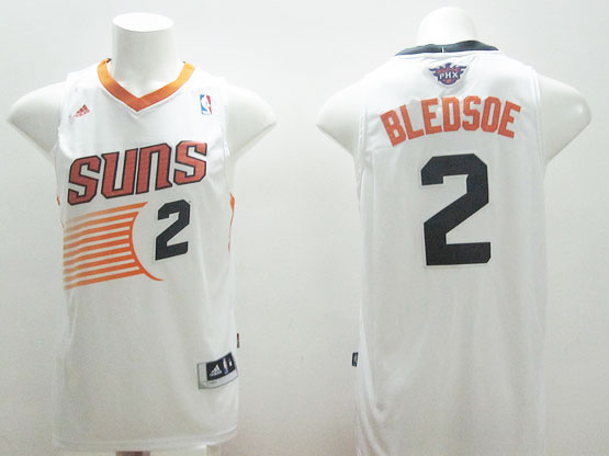 Mens Nba Phoenix Suns #2 Bledsoe White (black Number) Jersey