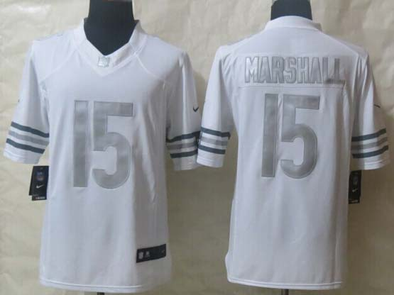 Mens Nfl Chicago Bears #15 Marshall White (silver Number) Platinum Limited Jersey