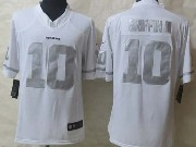 Mens Nfl Washington Red Skins #10 Griffin Iii White (silver Number) Platinum Limited Jersey