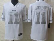 Mens Nfl Washington Red Skins #11 Jackson White (silver Number) Platinum Limited Jersey