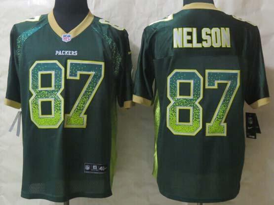 Mens Nfl Green Bay Packers #87 Nelson Drift Fashion Green Elite Jersey