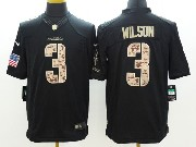 Mens Nfl Seattle Seahawks #3 Wilson Salute To Service Black Limited Jersey