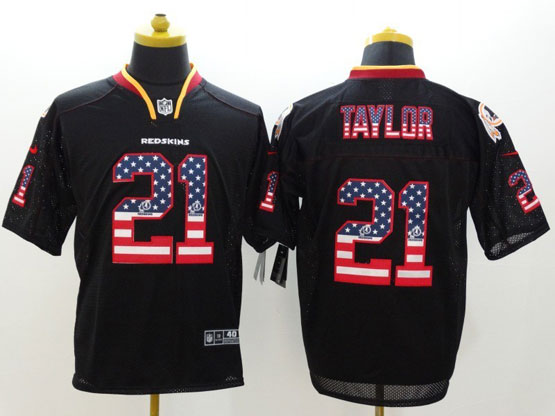 Mens Nfl Washington Redskins #21 Taylor Black (2014 Usa Flag Fashion) Elite Jersey