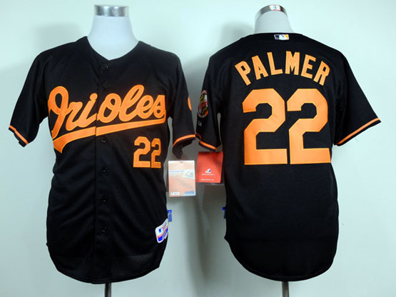 Mens mlb baltimore orioles #22 palmer black & Jersey
