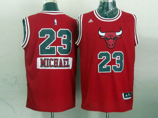 Mens Nba Chicago Bulls #23 Michael (2014 New Christmas) Red Jersey