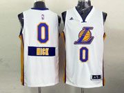 Mens Nba Los Angeles Lakers #0 Nick (2014 New Christmas) White Jersey