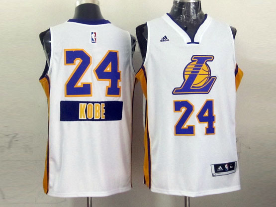 Mens Nba Los Angeles Lakers #24 Kobe (2014 New Christmas) White Jersey