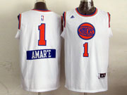 Mens Nba New York Knicks #1 Amar,e (2014 New Christmas) White Jersey