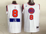 Mens Nba New York Knicks #8 J,r. (2014 New Christmas) White Jersey