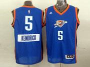 Mens Nba Oklahoma City Thunder #5 Kendrick (2014 New Christmas) Blue Jersey