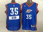 Mens Nba Oklahoma City Thunder #35 Kevin (2014 New Christmas) Blue Jersey