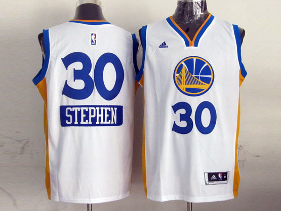 Mens Nba Golden State Warriors #30 Stephen (2014 New Christmas) White Jersey
