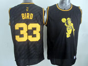 Mens Nba Boston Celtics #33 Bird Black Precious Metals Fashion Swingman Jersey