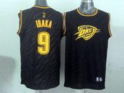 Mens Nba Oklahoma City Thunder #9 Ibaka Black Precious Metals Fashion Swingman Jersey