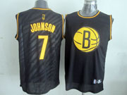 Mens Nba Brooklyn Nets #7 Johnson Black Precious Metals Fashion Swingman Jersey