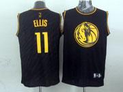 Mens Nba Dallas Mavericks #11 Ellis Black Precious Metals Fashion Swingman Jersey
