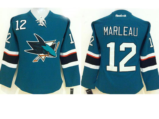 women  nhl san jose sharks #12 marleau green (2014 new) Jersey