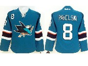women  nhl san jose sharks #8 pavelski green (2014 new) Jersey