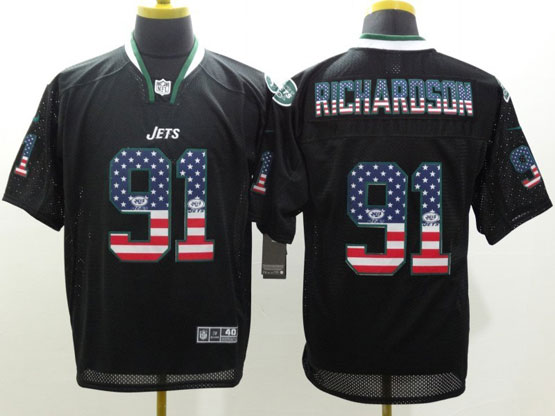 Mens Nfl New York Jets #21 Richardson Black (2014 Usa Flag Fashion) Elite Jersey