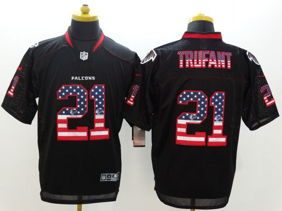 Mens Nfl Atlanta Falcons #21 Trufant Black (2014 Usa Flag Fashion) Elite Jersey