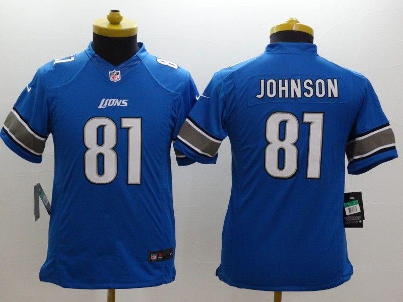 Youth Nfl Detroit Lions #81 Johnson Light Blue Limited Jersey