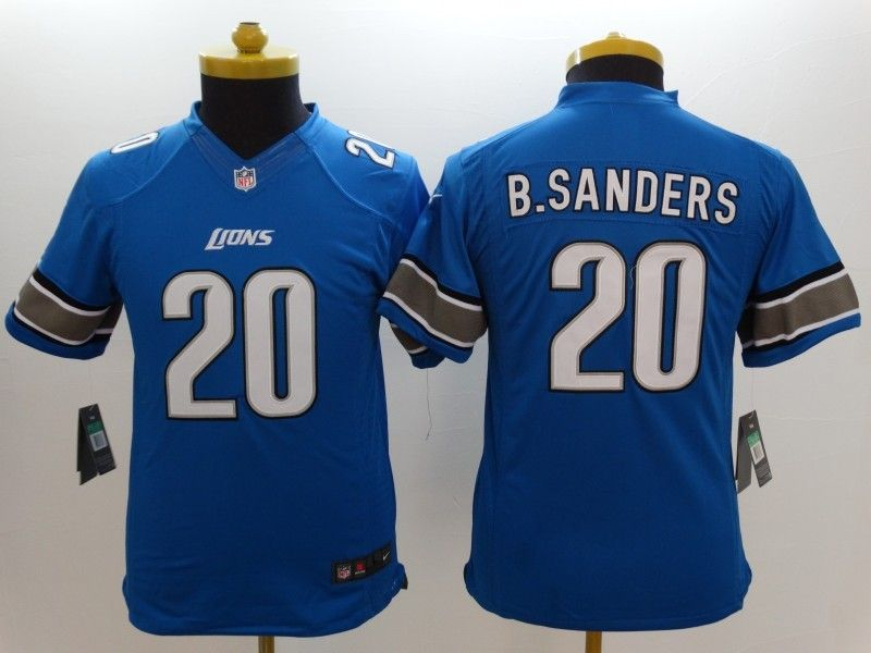 youth nfl Detroit Lions #20 Barry Sanders light blue limited jersey