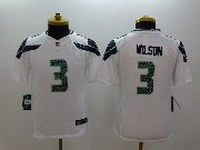 Youth Nfl Seattle Seahawks #3 Wilson White Limited Jersey