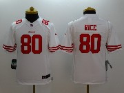 Youth Nfl San Francisco 49ers #80 Rice White Limited Jersey