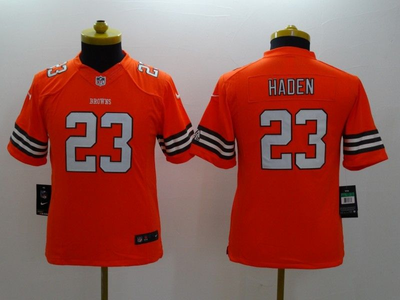 Youth Nfl Cleveland Browns #23 Haden Orange Limited Jersey