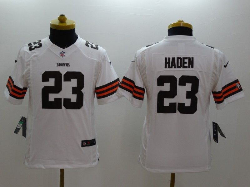 Youth Nfl Cleveland Browns #23 Haden White Limited Jersey