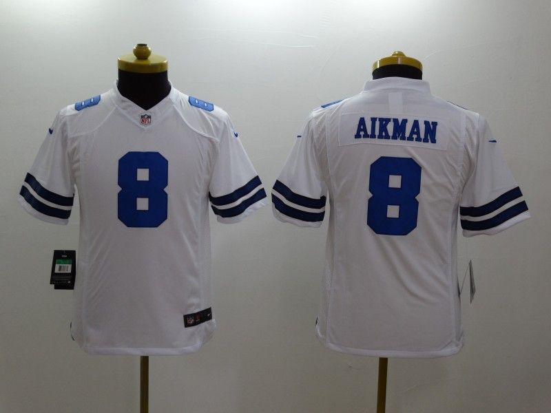 Youth Nfl Dallas Cowboys #12 Aikman White Limited Jersey