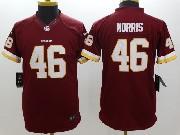 Youth Nfl Washington Redskins #46 Morris Red Limited Jersey