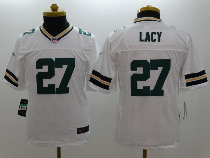 Youth Nfl Green Bay Packers #27 Lacy White Limited Jersey