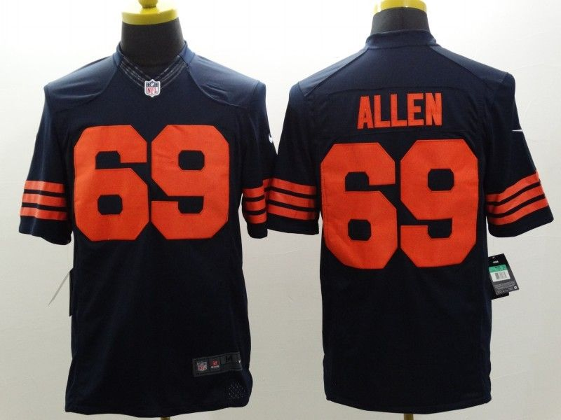 Mens Nfl Chicago Bears #69 Allen Blue (orange Number) Limited Jersey