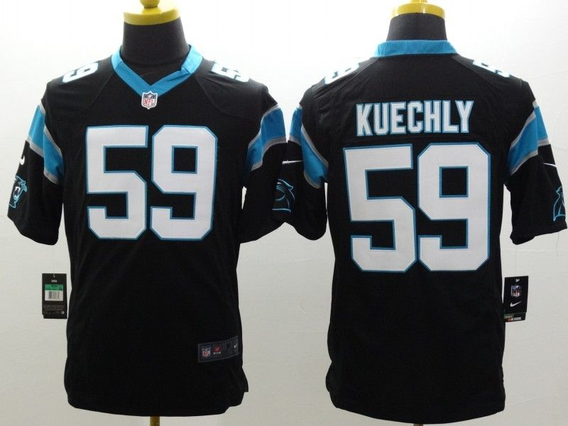 Mens Nfl Carolina Panthers #59 Kuechly Black Limited Jersey