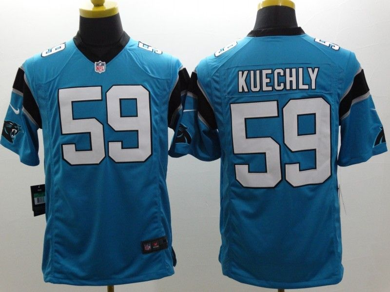 Mens Nfl Carolina Panthers #59 Kuechly Blue Limited Jersey