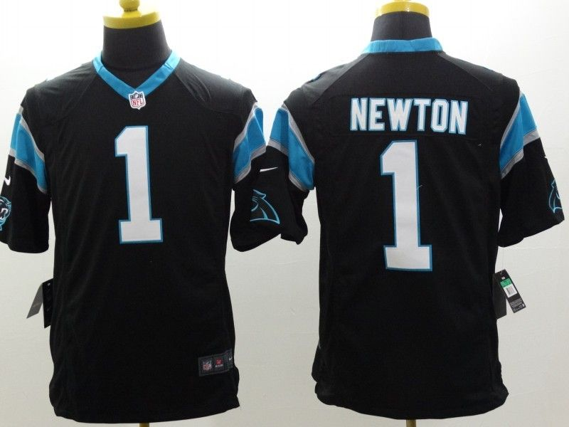 Mens Nfl Carolina Panthers #1 Cam Newton Black Limited Jersey