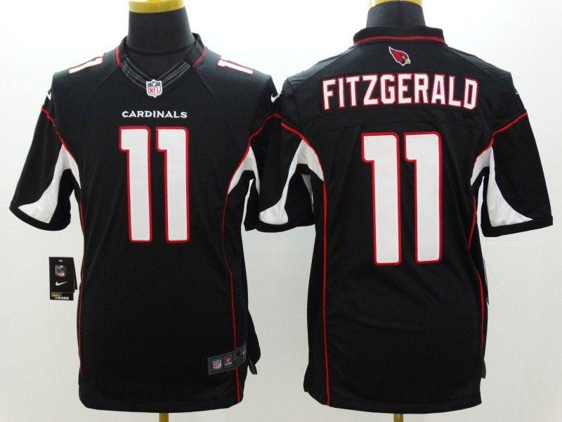 Mens Nfl Arizona Cardinals #11 Larry Fitzgerald Black Limited Jersey