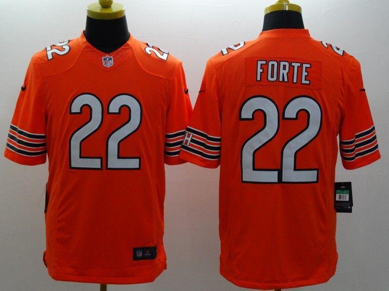 Mens Nfl Chicago Bears #22 Forte Orange Limited Jersey