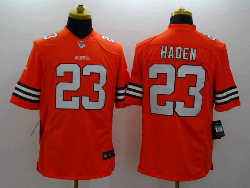 Mens Nfl Cleveland Browns #23 Haden Orange Limited Jersey