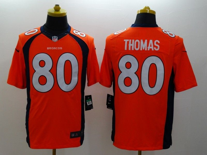 Mens Nfl Denver Broncos #80 Thomas Orange (2014 New) Limited Jersey