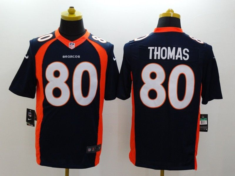 Mens Nfl Denver Broncos #80 Thomas Blue (2014 New) Limited Jersey