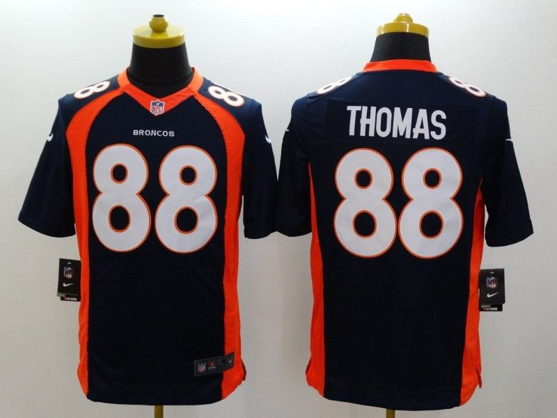 Mens Nfl Denver Broncos #88 Thomas Blue (2014 New) Limited Jersey